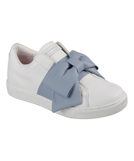 love this product White   Blue Prima Little Bow Leather Sneaker - Women d510eb50c