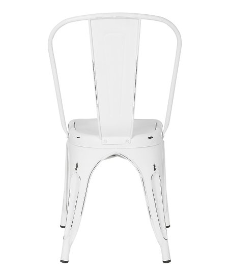 Surprising Poly Bark White Distressed Trattoria Side Chair Zulily Bralicious Painted Fabric Chair Ideas Braliciousco