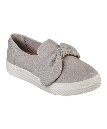 Skechers Gray Vapor Bow Time Sneaker Women