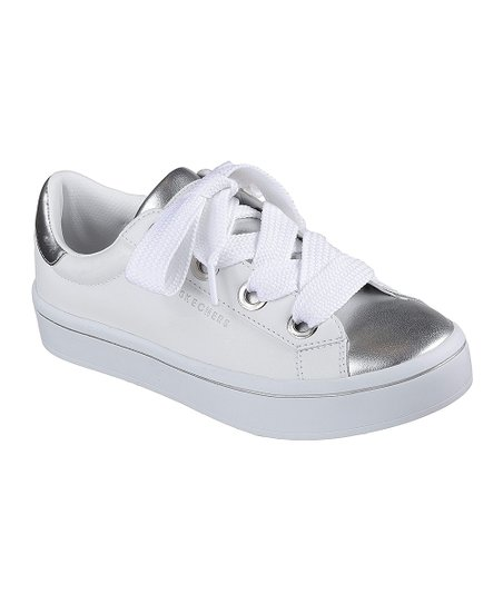 b3a173cb1829 love this product White   Silver Hi-Lites Medal Toes Leather Sneaker - Women