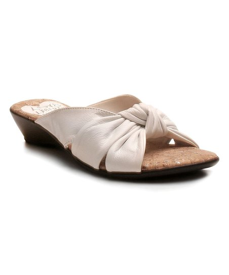 5af70c7b3e44 Love and Liberty White Janet Leather Sandal - Women