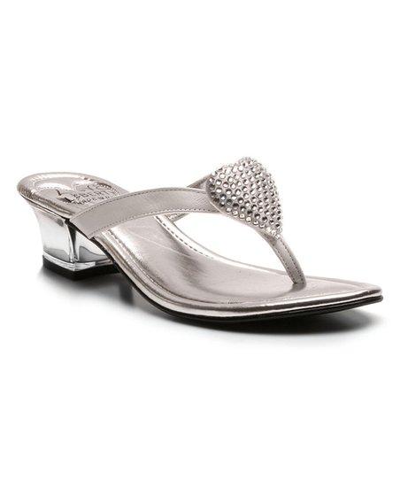 397b54fd5cb0 Love and Liberty White Love Rhinestone Heart Leather Sandal - Women ...
