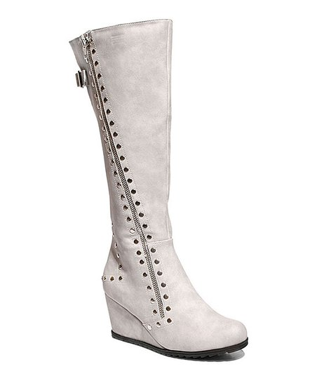 0291c7a56dcb8 2 Lips Too Stone Too Nikki Wide Calf Wedge Boot - Women | Zulily
