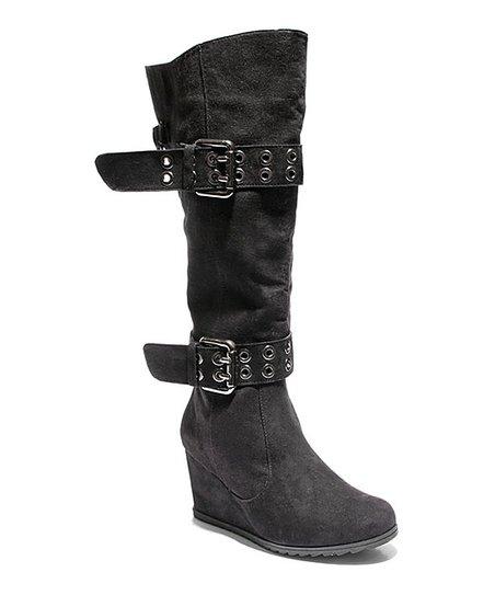 aa5349feec7a 2 Lips Too Black Too Nicole Wide Calf Wedge Boot - Women
