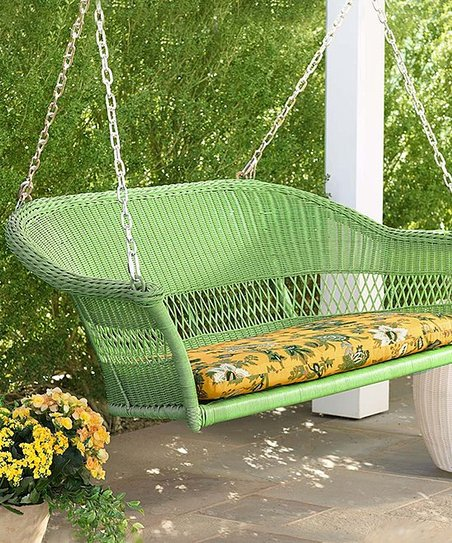 Outstanding Plow Hearth Green Wicker Outdoor Swing Sofa Ncnpc Chair Design For Home Ncnpcorg