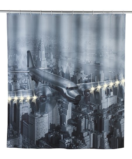 Love This Product Propeller Plane LED Shower Curtain