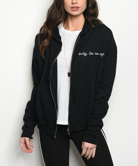 a06758e3faf20 love this product Black Dragon Zip-Up Hoodie - Women