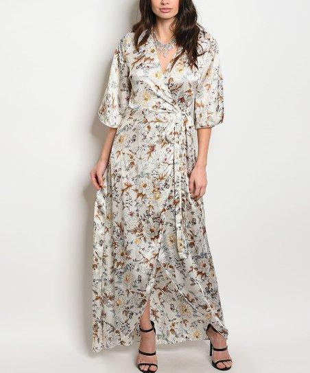 eb8056ba453 love this product White Floral Wrap Maxi Dress - Juniors