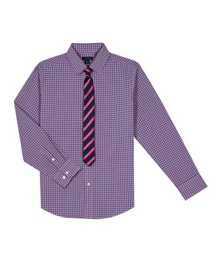 Tommy Hilfiger Pink Day Gingham Button-Up   Tie - Boys  a39cdb03d