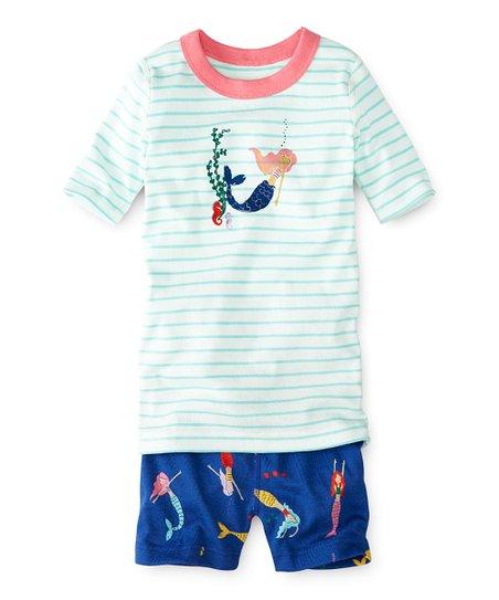 ff1c43496e love this product Mermaids Organic Cotton Short John Pajama Set - Girls