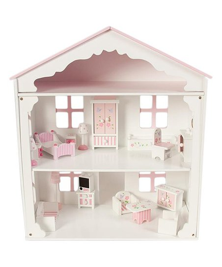 Rosalina Pink Wooden Doll House Furniture For 5 Doll Zulily