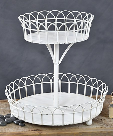 Two Tier White French Display Stand Best Price And Reviews Zulily