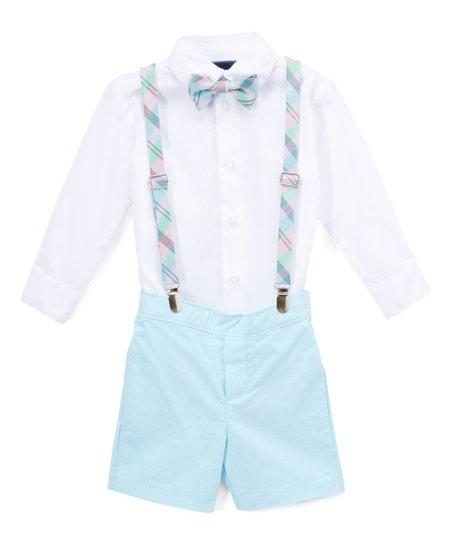 24ddc219a02b IZOD Izod Sea Aqua Suspenders Set - Toddler | Zulily