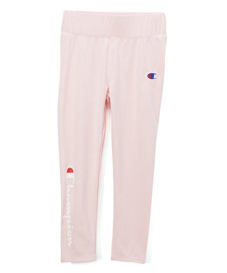 666f67774cbb9 Chalk Pink Champion Heritage Leggings - Girls | Zulily