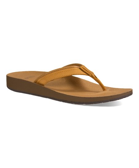 2ea469dea1a9 love this product Tan Azure Leather Flip-Flop - Women