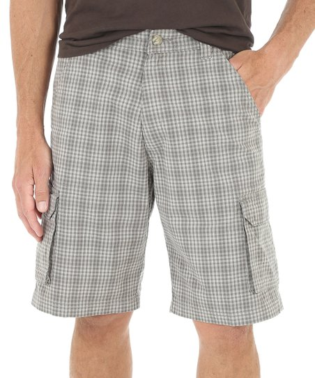 93130330d8 love this product Gray Plaid Cargo Shorts - Men & Big