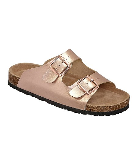 28418d9c4e9 love this product Rose Gold Bork Double-Buckle Sandal - Women