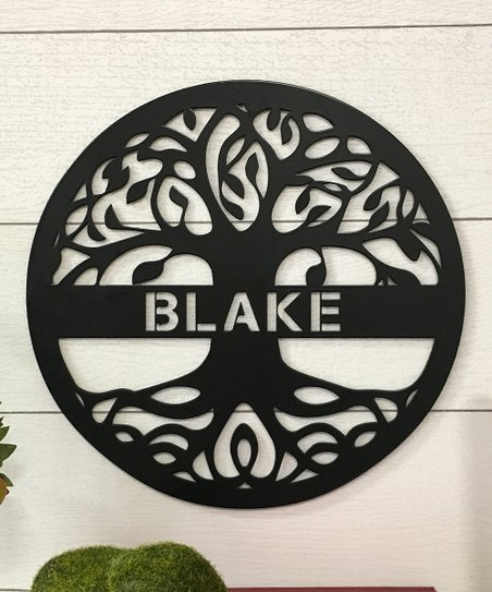 Metal Unlimited Black Tree of Life Personalized Steel Wall Décor ... 8774fb2b9
