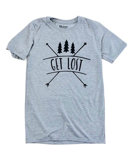 879cd306 love this product Heather Gray Camp 'Get Lost' Tee - Juniors
