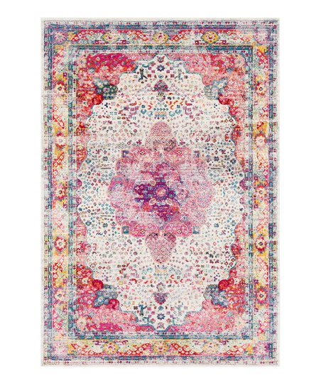 Pink Traditional Aura Rug