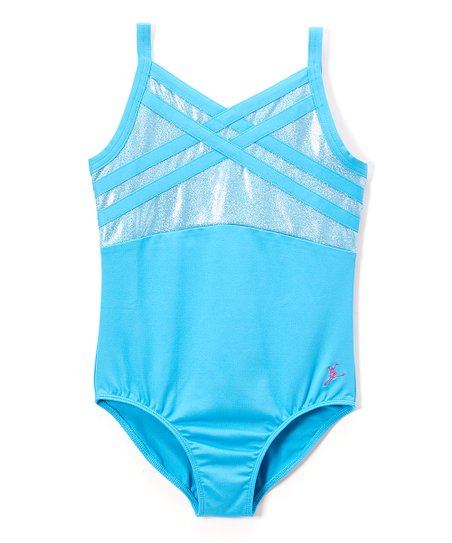 3df6f6711224 Future Star by Capezio Blue Strappy Leotard - Toddler   Girls