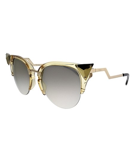 f9c7e78802cde4 love this product Gold & Gray Stud-Accent Cat-Eye Sunglasses