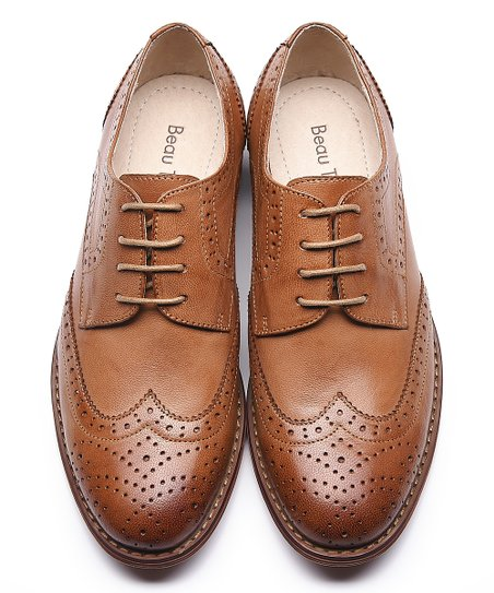 Beau Brown Leather Wingtip Oxford