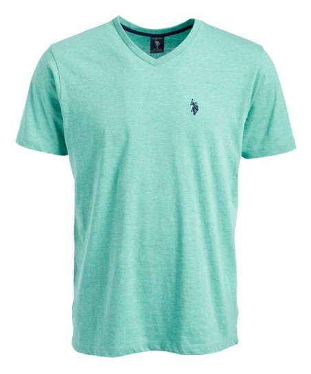 Love This Product Seafoam Green V Neck Tee Men