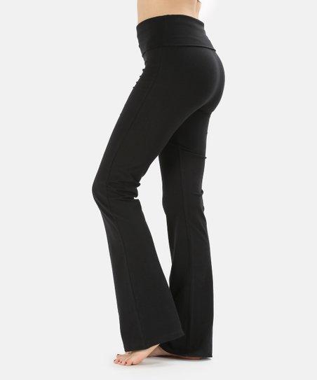 Zenana Black Fold Over Waist Yoga Pants Women Best Price And Reviews Zulily