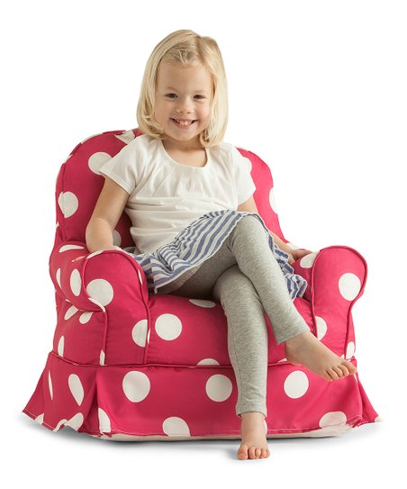 Tremendous Big Joe Pink White Dot Big Joe Babs Kids Beanbag Chair Gmtry Best Dining Table And Chair Ideas Images Gmtryco