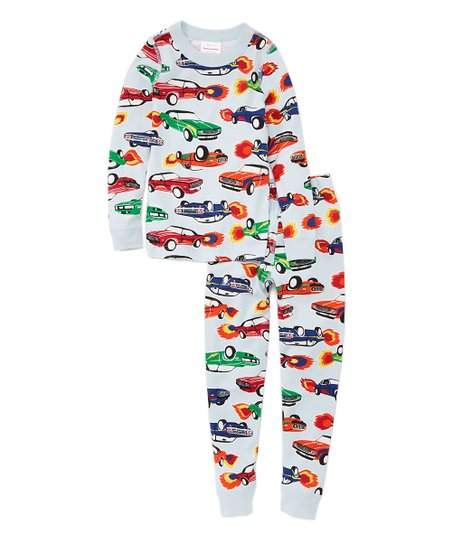 5b3c7a1a2 Hanna Andersson Skylight Hot Rods Organic Cotton Long John Pajamas ...