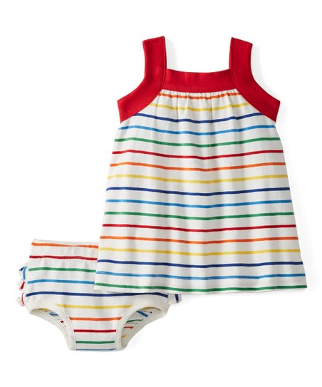 fdf4d3f54ec0 Hanna Andersson White   Red Stripe Bright Baby Basics Sundress ...