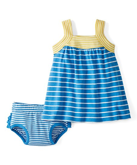 c1a4b3a3403a Hanna Andersson Swedish Sky Stripe Bright Baby Basics Sundress ...
