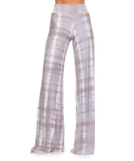 47d5e0ff927f9 Frumos Gray Tie-Dye Palazzo Pants - Plus