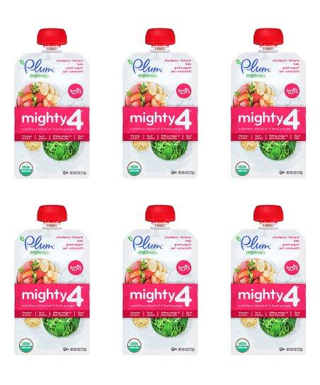 Plum Organics Mighty 4 Strawberry Banana Kale Baby Food 1 Box