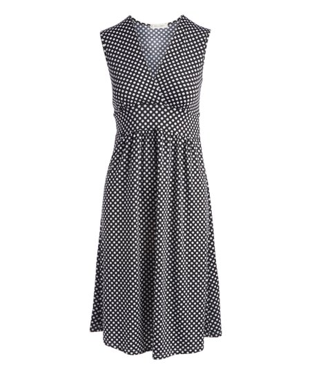 13cdf3d9f7e jon & anna Black Polka Dot Tie-Back Surplice Dress - Women
