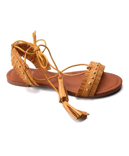 0a34d7d9dd6c love this product Mustard Amanda Braided Lace-Up Sandal - Women
