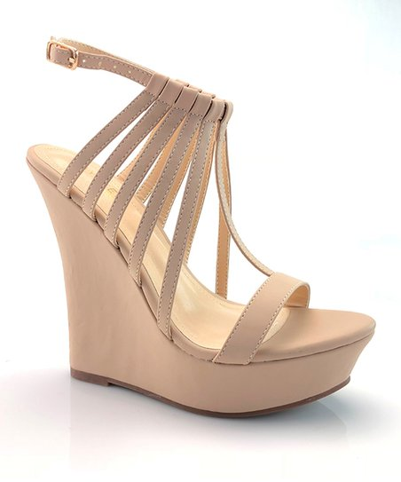 b6d25be047b love this product Nude Selia Strappy Wedge Sandal - Women