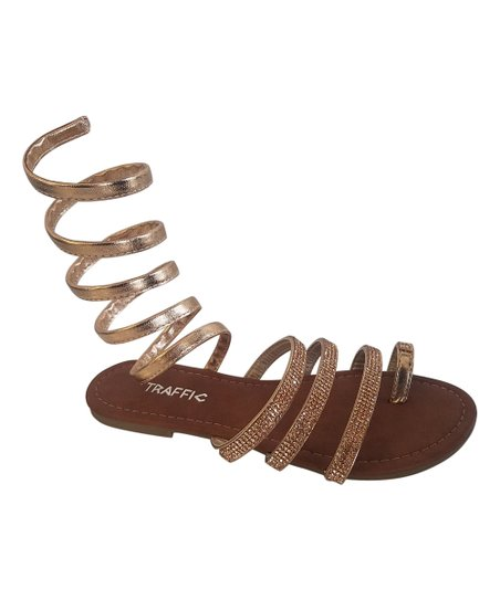 6ca49b7507d7 love this product Rose Gold Embellished Snake Gladiator Sandals - Women
