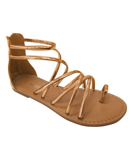 f784f69bea72 love this product Rose Gold Strappy Gladiator Sandal - Women
