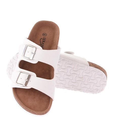 53e9aad31664 love this product White Dual-Buckle Sandal - Women