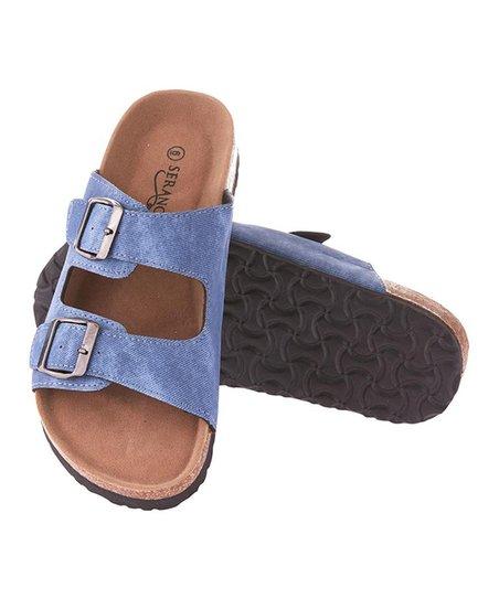 3b0445c85521 love this product Blue Dual-Buckle Sandal - Women