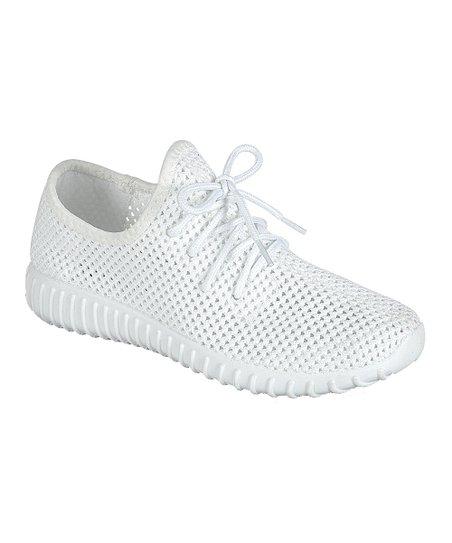 White Knit Remy Sneaker - Women   Best