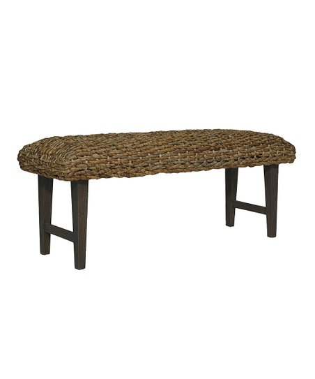 Remarkable Jeffan Brown Black Wash West Indies Bench Zulily Inzonedesignstudio Interior Chair Design Inzonedesignstudiocom