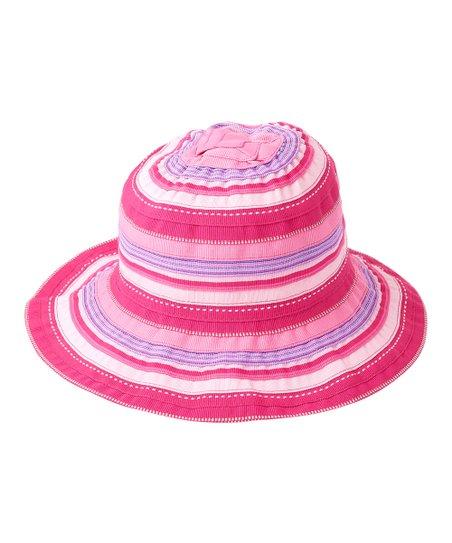 UV Skinz Hot Pink Stripe Bucket Hat  c9fdd1cc331