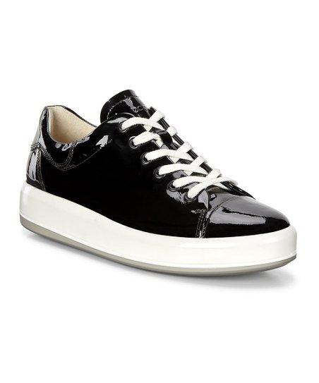 ECCO Black Bohemia Soft 9 Patent Leather Slip On Sneaker