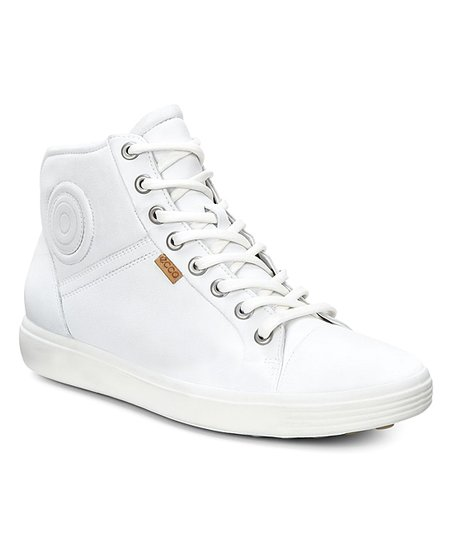 6d021269ad ECCO White Droid Soft VII High-Top Leather Sneaker - Women
