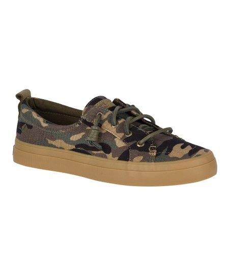 Olive Camo Crest Vibe Sneaker - Women
