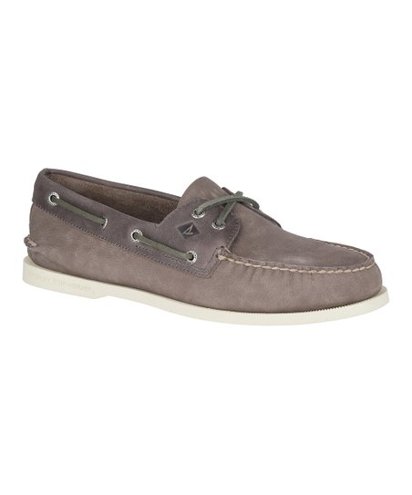 421db267e60 Sperry Top-Sider Gray   Charcoal Authentic Original Two-Eye Boat ...