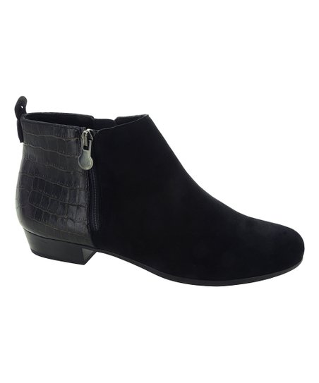 919110970 Munro Shoes Black Lexi Suede Ankle Boot - Women | Zulily